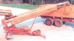 передвижные конвейеры с изменяемым углом наклона и лентой