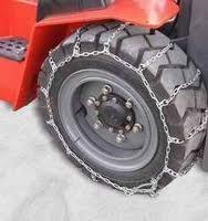 Цепи на погрузчик лесенкой. Цепи противоскольжения на колеса погрузчика тип - лесенка.