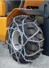 Цепи на колеса погрузчика, рисунок снежной цепи сотами. Цепи противоскольжения для погрузчика тип - сота.