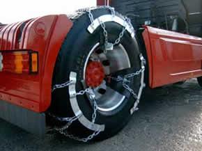 Цепи противоскольжения для грузовых автомобилей / Цепи на колеса грузовых автомобилей - цепи противоскольжения.